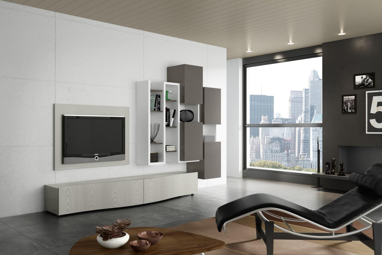 Soggiorni moderni for Parete attrezzata moderna soggiorno